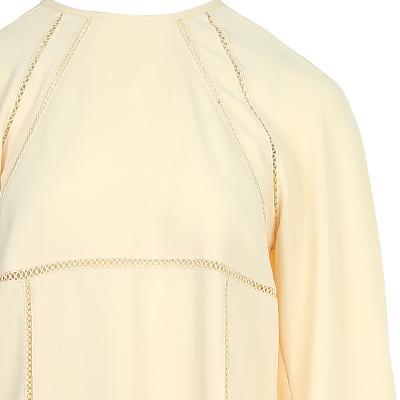 raglan sleeve yoke t-shirt yellow